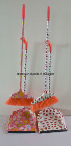 Plastic Dustpan&Broom with Printing