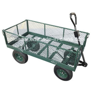 China Manufacturer of High Quality Steel Meshed Garden Cart (TC1840)