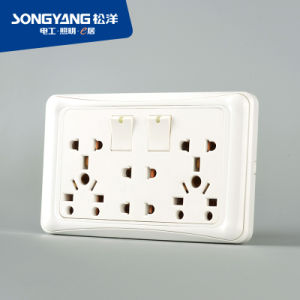Flame Retardant PC Plastic D/Universal Switch Socket pictures & photos