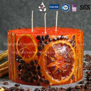 China Wholesale Lemon Scented Fruit Candle pictures & photos