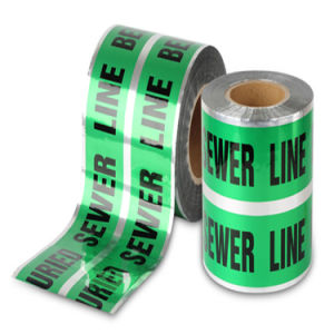 Underground Detectable PE Warning Tape, Barrier Tape, Safety Tape pictures & photos
