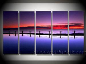 Handmade Seascape Art Bridge Oil Painting on Canvas (LA5-042) pictures & photos