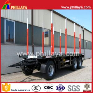 Turntable Flatbed Cargo Transport Draw Bar Trailer with Side Posts pictures & photos