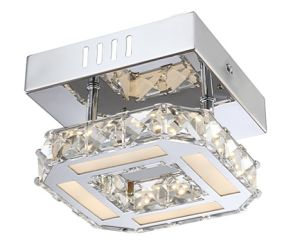 Modern 8W LED Chrome and Crystal Ceiling Lamp (LED-15112-8) pictures & photos