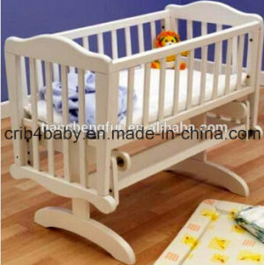 Wooden Rocking Baby Crib Bed/Baby Cradle/Swing Baby Crib Bed