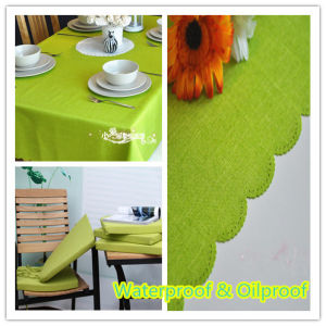 Waterproof Oilproof Polyester Fabric Table Cloth pictures & photos
