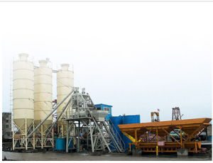 Hzs75 Concrete Batching Plant From China with Factory Price pictures & photos
