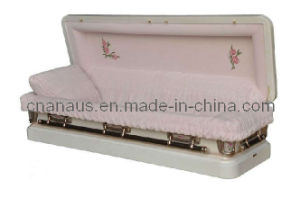 US Style 18ga Steel Full Couch Casket (18F1001) pictures & photos