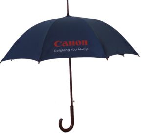 23inch Wooden Shaft Handle Automatic Open Straight Umbrella for Promotion/Giftware