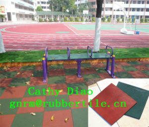 500mm Anti-Slip Rubber Tile, Colorful Rubber Tile, Comfort Rubber Tile Outdoor Rubber Tile Colorful Rubber Paver Tiles pictures & photos