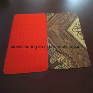 Indoor Usage and Simple Color Surface Treatment Woven Vinyl Flooring pictures & photos