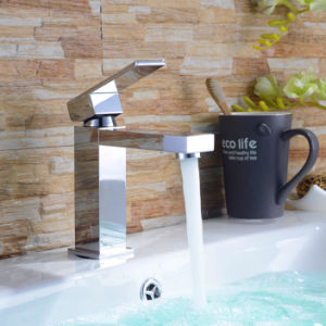 Brass Square Water Basin Mixer Tap for Bathroom