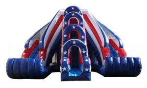 Inflatable Double Lane USA Slides (KSH-118B) pictures & photos