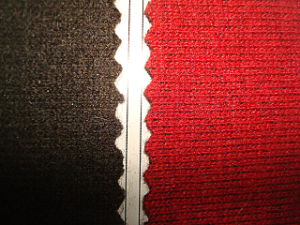 Wool Imitation Double Layer and Colour Knitting Fabric pictures & photos