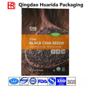 Bottom Gusset Reclosable Chia Seeds Packaging Bag with Zipper pictures & photos