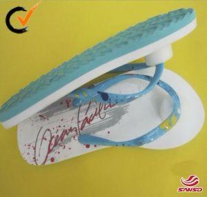 Fashion Custom Printed Beach Lady EVA Flip Flops pictures & photos