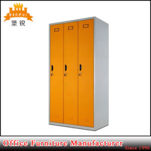 Low Price Office Use 3 Doors Steel Wardrobe Locker pictures & photos
