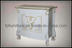 French Provincial Furniture- Floor Cabinet (0607DG)