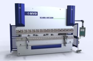 100X5000 CNC Electro-Hydraulic Synchronized Press Brake Combination Press Brake and Shear pictures & photos