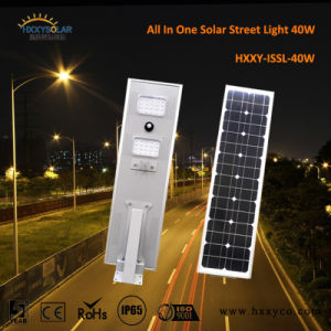 12V 40W Outdoor IP65 Integrated Garden Solar Panel LED Street Light pictures & photos