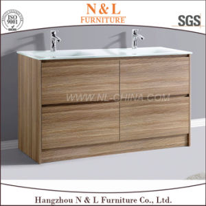 2017 N&L Modern MDF Bathroom Vanity with Melamine pictures & photos