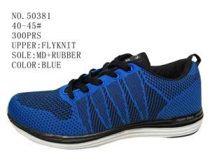 Blue Color Fly Knit Men Sport Shoes pictures & photos
