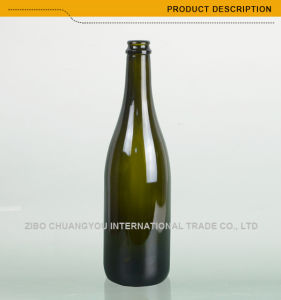 2017 Hot Selling Wholesale 750ml Champagne Glass Bottles (409) pictures & photos