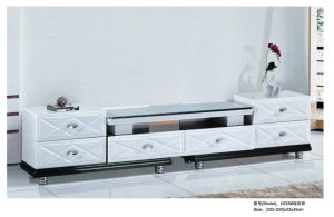 White TV Stand with MDF Drawer in Living Room (H225) pictures & photos