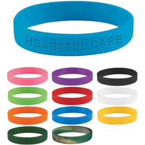 Filled Ink Silicone Wristband for Promotional pictures & photos