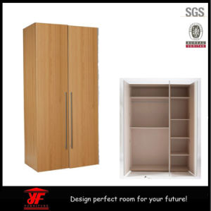 Latest Simple Fashion Dressing Room Bedroom Furniture Customizable 2 Door Wooden Wardrobe
