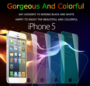 9h Colored Tempered Glass Screen Protector for iPhone5/5s pictures & photos