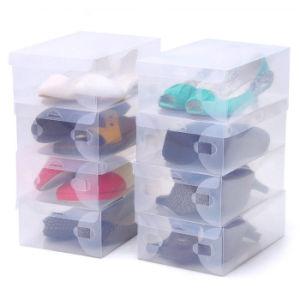 Transparent Plastic Shoes Box /Clear Plastic Shoes Case (MX-0941) pictures & photos