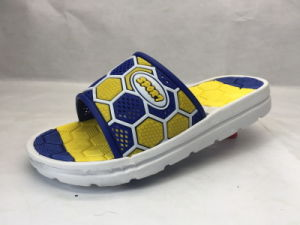 Children PVC Comfortable and Concise Slippers with Football Pattern (21IY17020) pictures & photos