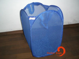 Foldable Mesh Laundry Hamper (hbmb-1) pictures & photos