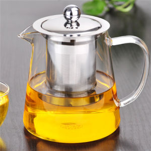 High Alkali Resistance 450ml Glass Teapot with Infuser pictures & photos