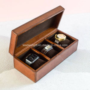 Handcrafted Small Leather Jewelry Box Storage Case Watch Case pictures & photos