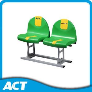 Floor Mount Ranked Plastic Stadium Chair with Aluminum Leg pictures & photos