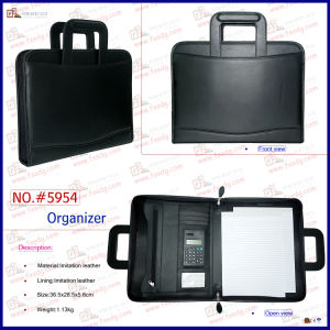PU Leather Flexible Handles Portfolio (5954) pictures & photos