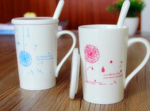 Customized Logo Couples Cup Porcelain Cup pictures & photos