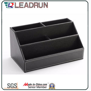Contain Storage Collection Wooden Gift Tissue Pen Stationery Box with Leather Specail Paper (YLS82)