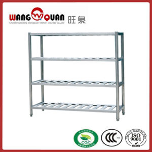 Supermarket 4 Tier Lattice Stainless Steel Rack pictures & photos