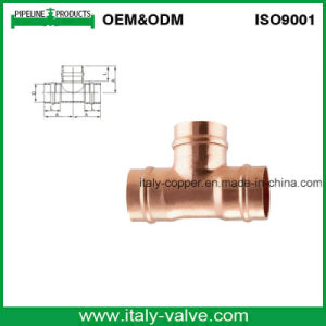 Top Quality Ce Certified S/Ring Copper Tee/Copper Fitting (AV8050) pictures & photos