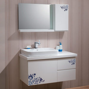 Oppein Elegant Design PVC Bathroom Storage Cabinet (OP-P1162R-100W) pictures & photos
