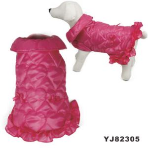 Pink 2015 Cheap Dog Clothes Dress (YJ82305) pictures & photos