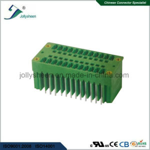 Pluggable Terminal Blocks 24pin 180deg Straight with   Green Housing pictures & photos