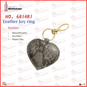Luxury PU Leather Metal Key Chain (6414R1) pictures & photos