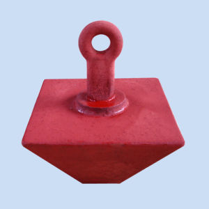 Pyramid Anchor with Red Painted