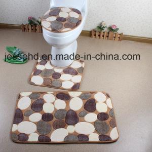 Good Quality and Cheap 3PCS Coral Fleece Bath Mat Set pictures & photos