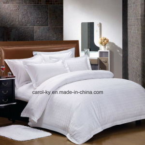 Jacquard Cotton Hotel Bedding Duvet Cover pictures & photos