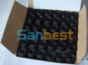 Chinese Factory of Black Color Pre-Wound Bobbins Thread for Embroidery pictures & photos